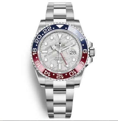 This image has an empty alt attribute; its file name is replica-rolex-gmt-master-ii-watch-m126719blro-meteorite-dial.jpg